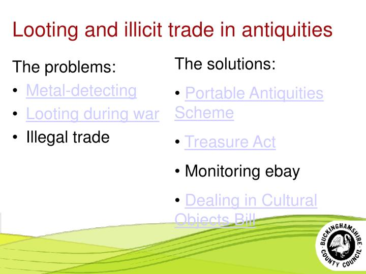 Looting and illicit trade in antiquities