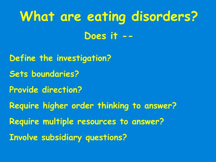 What are eating disorders?