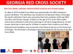 red cross week exhibiton reflected grcs activities and climate change