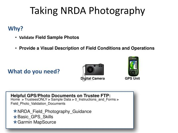 Taking NRDA Photography