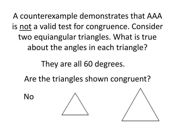 A counterexample demonstrates that AAA is