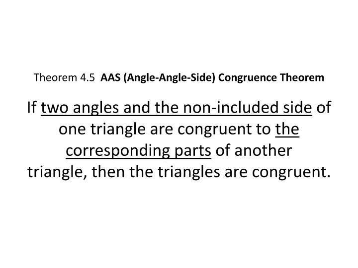 Theorem 4.5