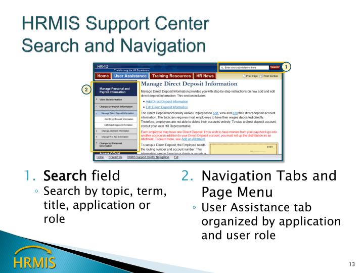 HRMIS Support Center
