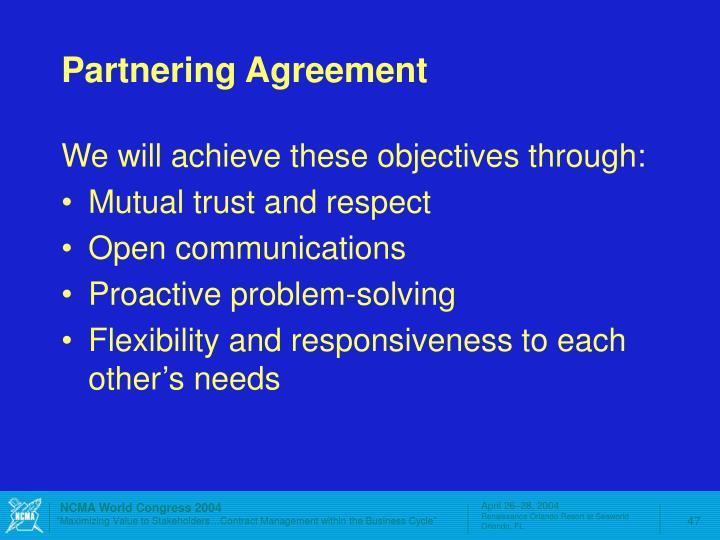 Partnering Agreement
