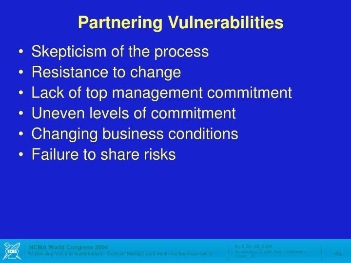 Partnering Vulnerabilities