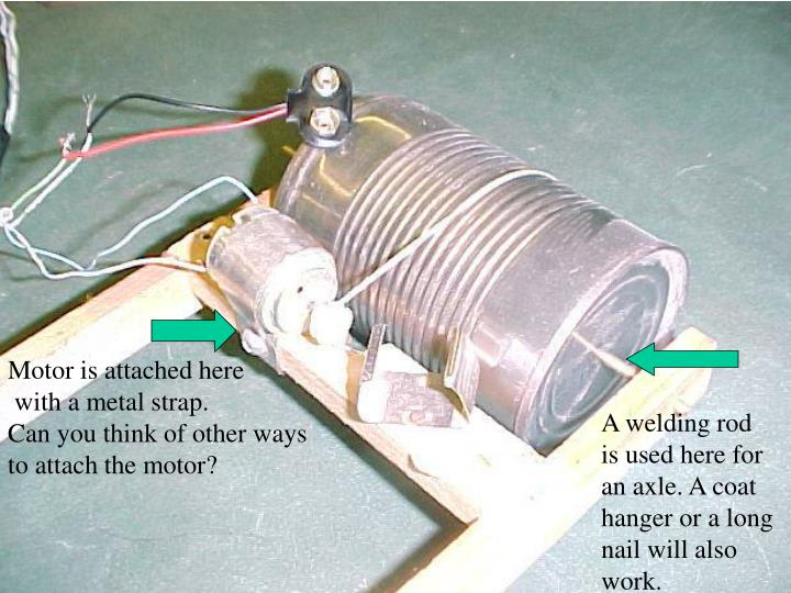 Motor is attached here
