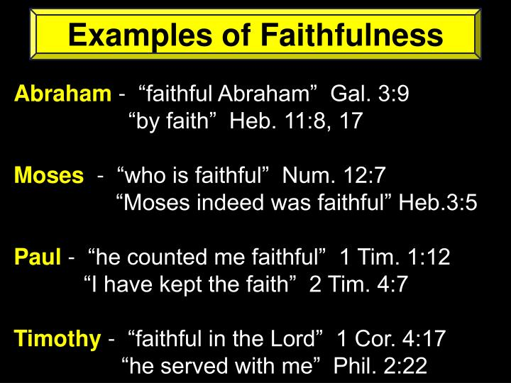 Examples of Faithfulness