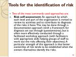 tools for the identification of risk1