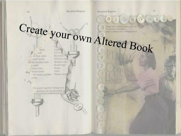 Create your own Altered Book