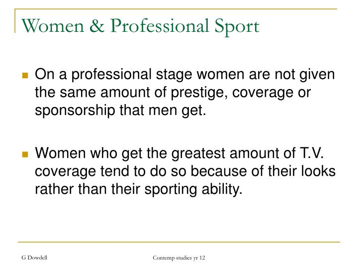 Women & Professional Sport