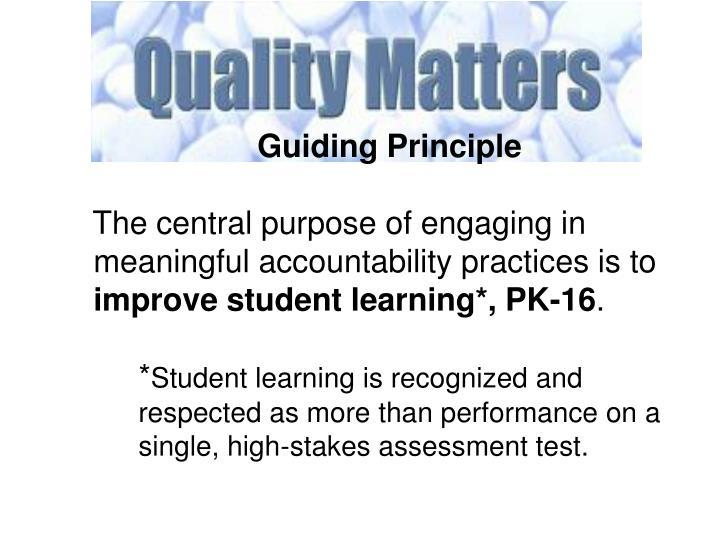 Guiding Principle