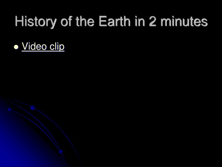 History of the Earth in 2 minutes