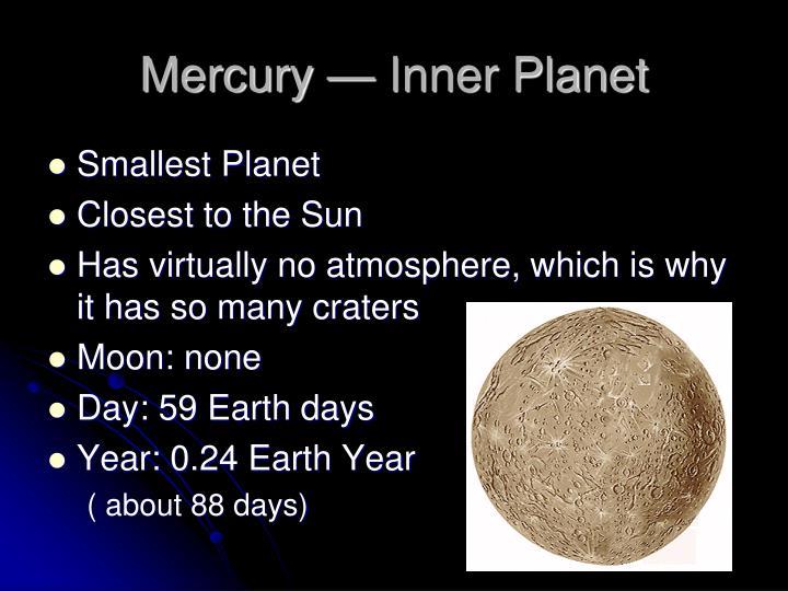 Mercury — Inner Planet