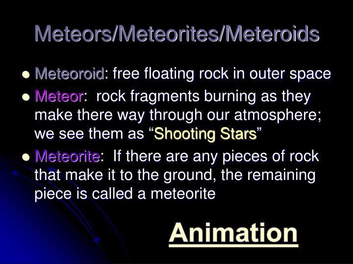 Meteors/Meteorites/Meteroids