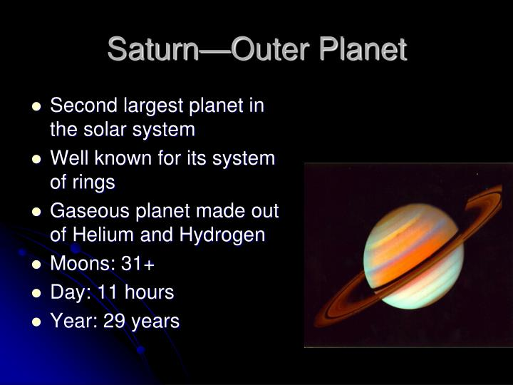Saturn—Outer Planet