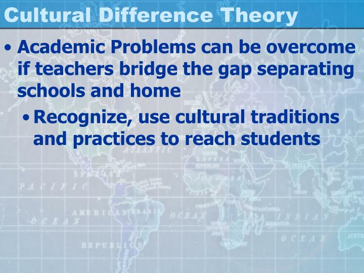 Cultural Difference Theory