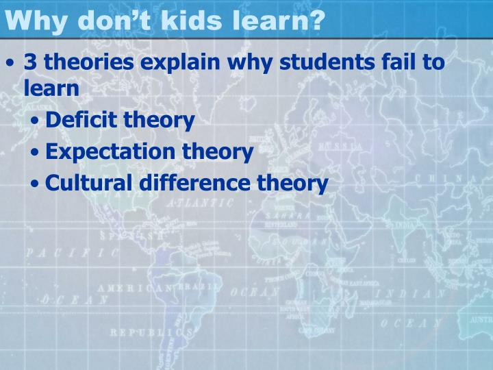 Why don't kids learn?