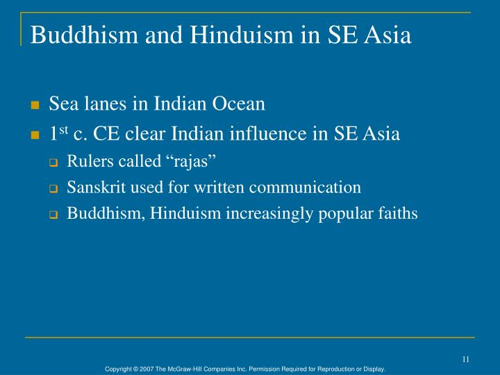 Buddhism and Hinduism in SE Asia