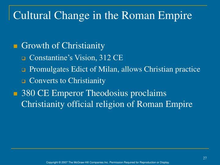 Cultural Change in the Roman Empire