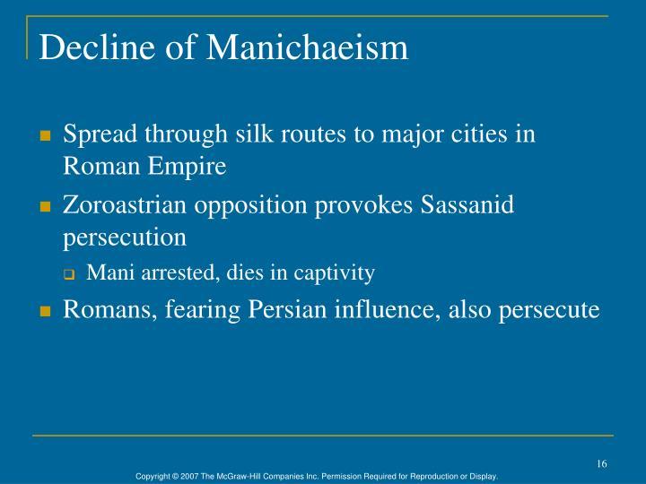 Decline of Manichaeism