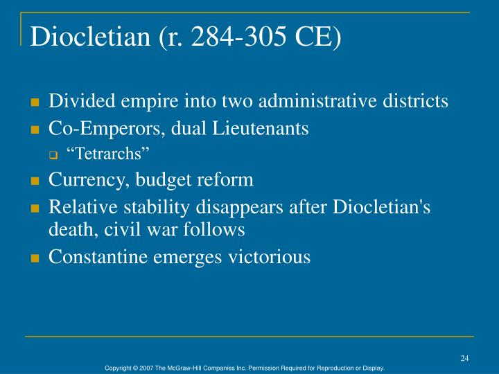 Diocletian (r. 284-305 CE)