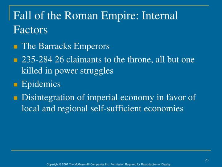 Fall of the Roman Empire: Internal Factors