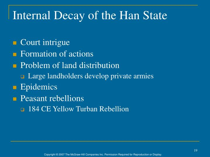Internal Decay of the Han State