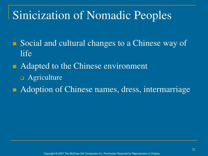 Sinicization of Nomadic Peoples