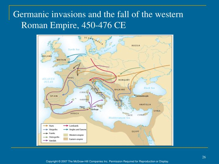 Germanic invasions and the fall of the western Roman Empire, 450-476 CE