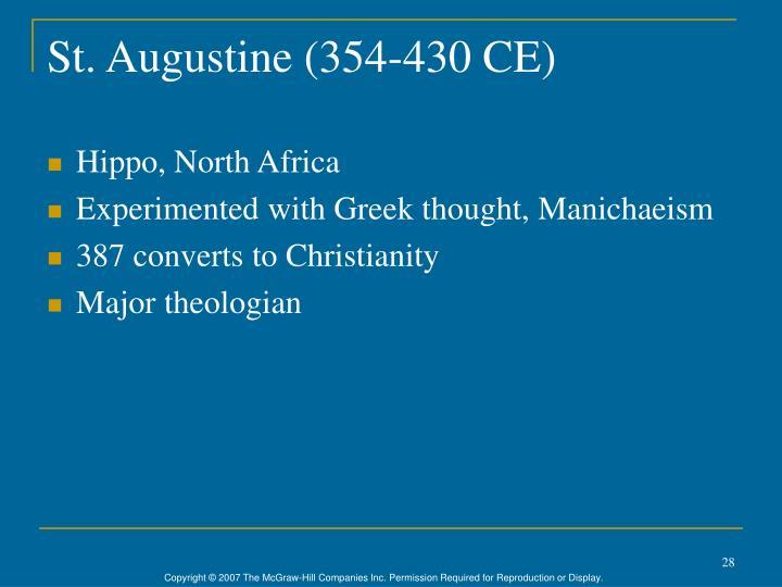 St. Augustine (354-430 CE)