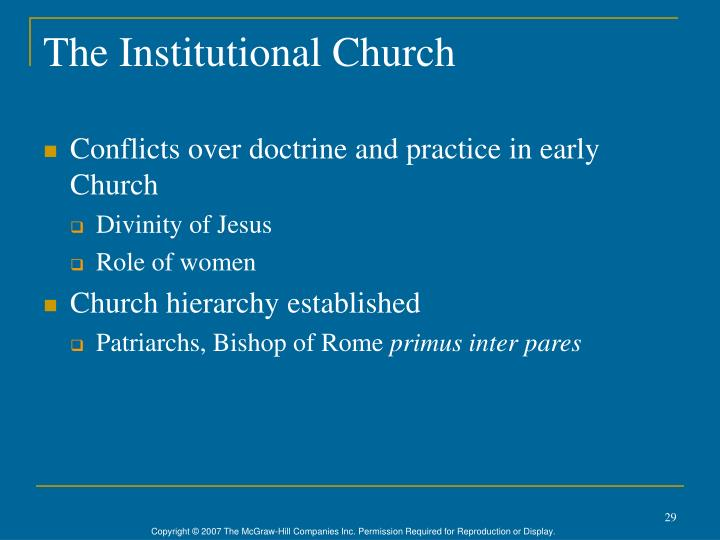 The Institutional Church