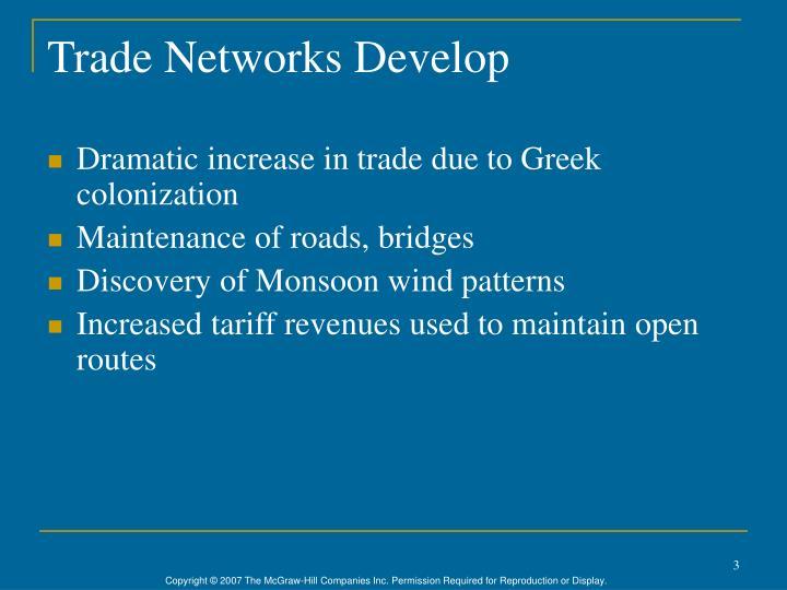 Trade Networks Develop