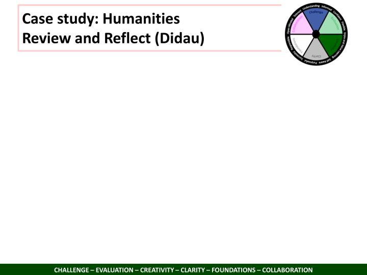 Case study: Humanities
