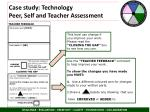 case study technology peer self and teacher assessment1
