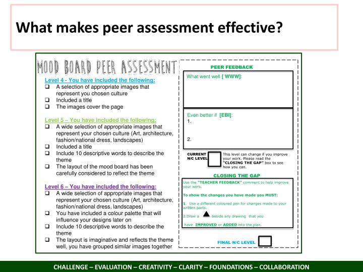 What makes peer assessment effective?