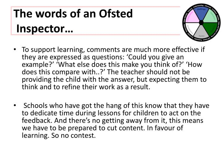The words of an Ofsted