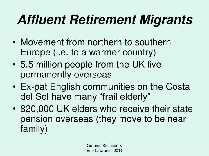 Affluent Retirement Migrants