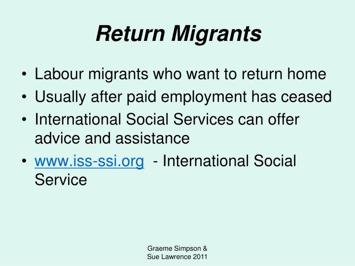 Return Migrants