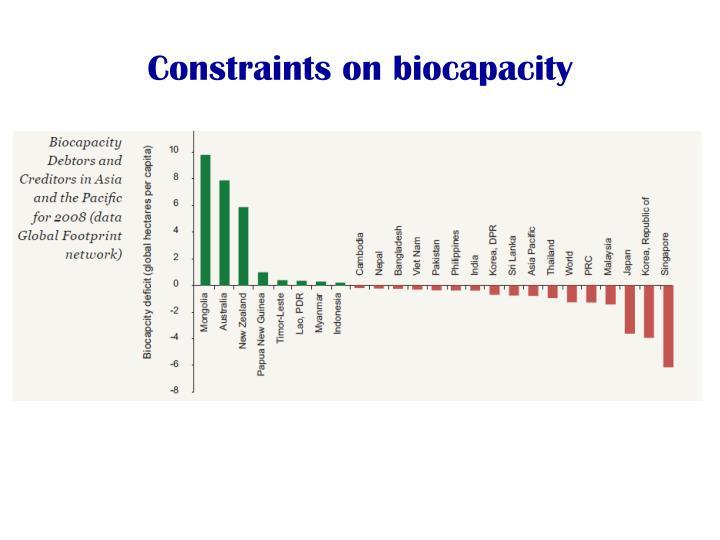 Constraints on biocapacity