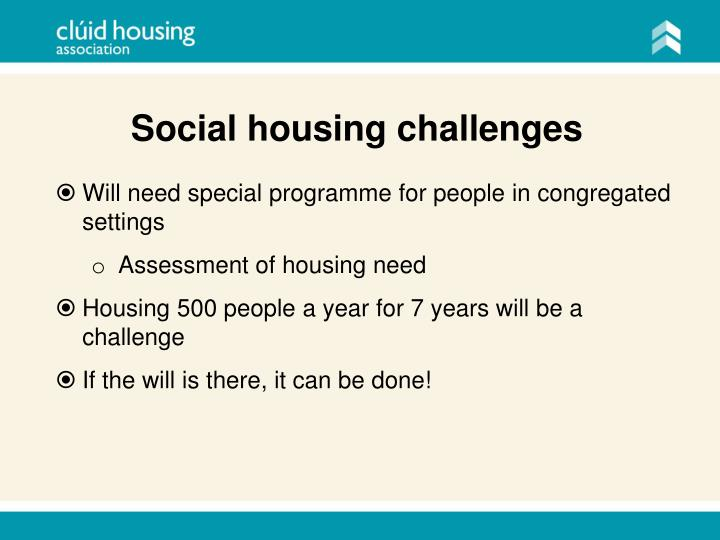 Social housing challenges