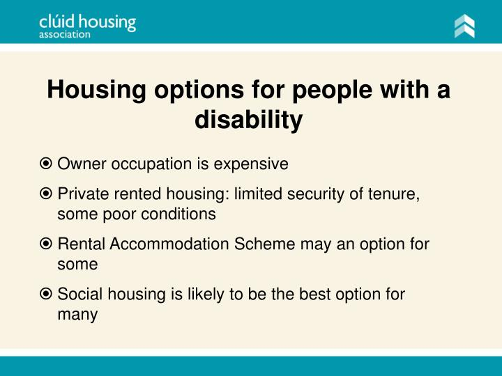 Housing options for people with a disability