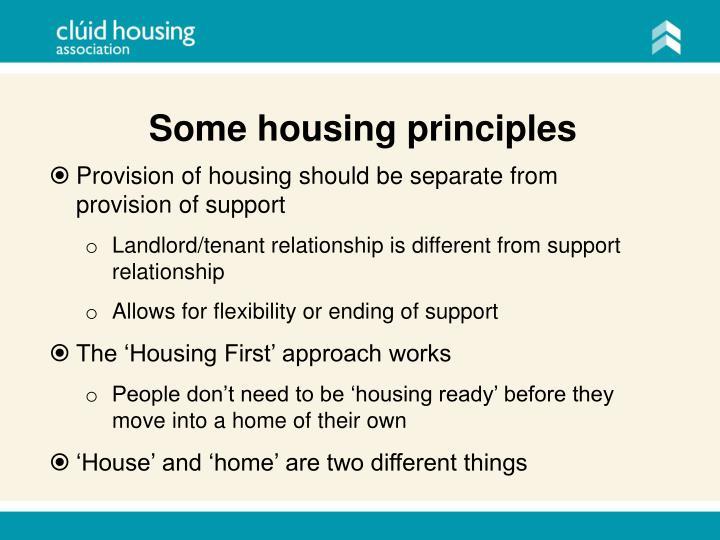 Some housing principles