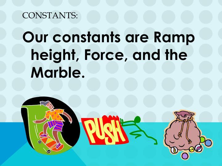 Constants: