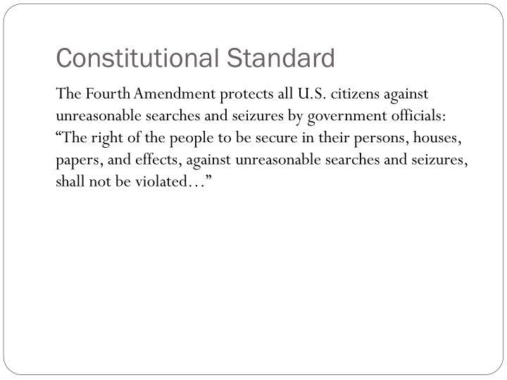 Constitutional Standard