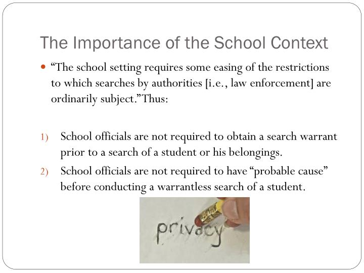 The Importance of the School Context