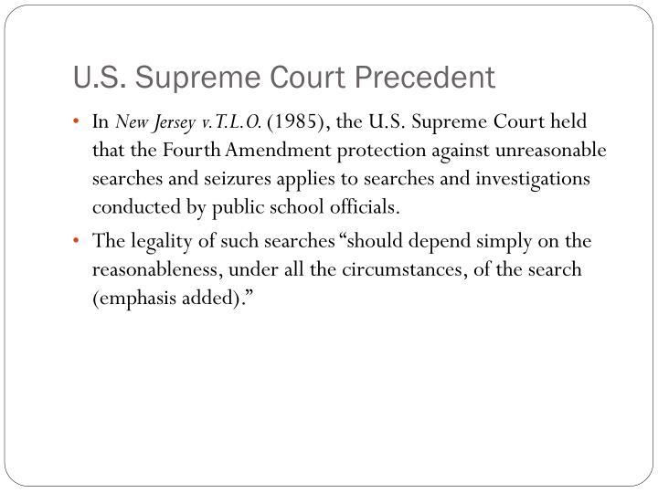 U.S. Supreme Court Precedent