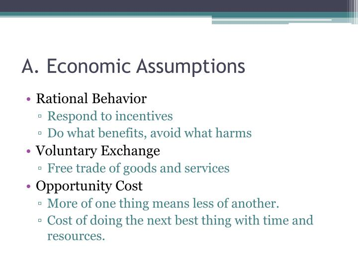 A. Economic Assumptions