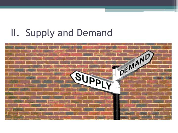 II.  Supply and Demand