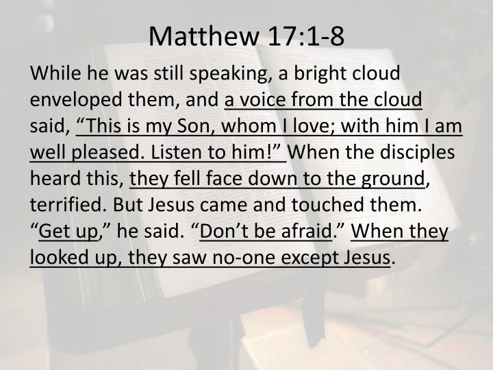 Matthew 17:1-8