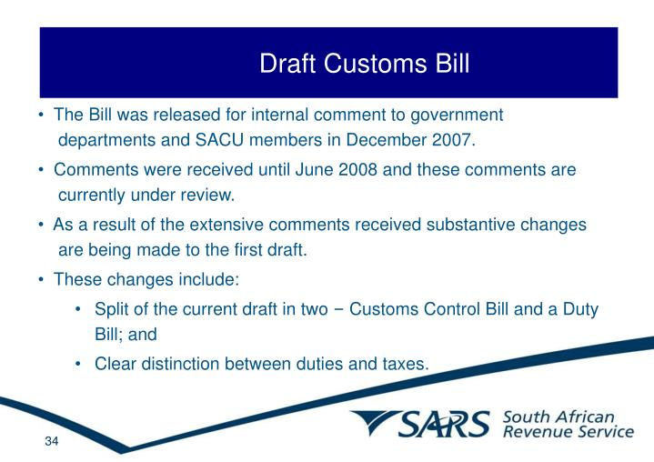 Draft Customs Bill
